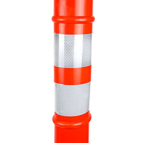 (Pack of 5) RK DPOST2T Polyethylene Portable Delineator Post with 13 lbs Recycled Octagonal Rubber Base, 42'' Height, Orange by RK Industries Group, Inc. (Image #6)