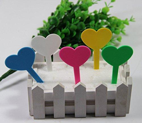 Aoyoho Plastic Plant Labels Heart Shaped Waterproof