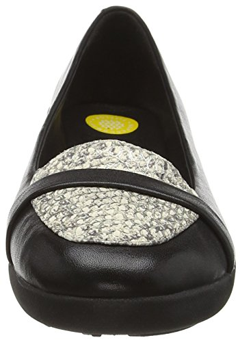 Mocassini Multicolore Donna Fitflop Pop Tm Loafer F Lizard black qIYgIw