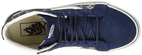 Furgoni Unisex Sk8-hi Ristampa (scacchiera) Skate Shoe Mood Indigo / Blanc De Blanc