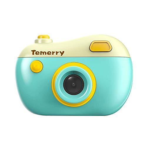 IslandseJJR/C V01 Kids Digital Camera 8MP 2.0 HD Screen Camcorder with Play Games Children Gifts (Green)