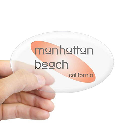 CafePress - Manhattan Beach Oval Sticker - Oval Bumper Sticker, Euro Oval Car - Manhattan Fit On Beach