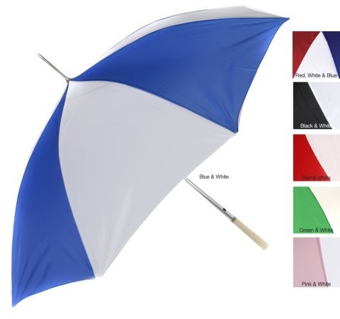 RainWorthy 48 inch Automatic Umbrella (Case of 24) - Blue/ White - 065-G24BL by RainWorthy