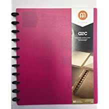 Staples Arc Customizable Notebook System 60 sheets (PINK) 8.5 x 11 Inches