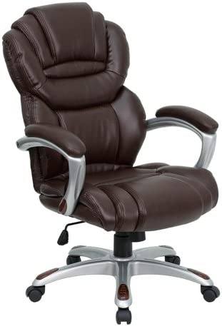 Offex High Back Brown Leather Executive Office Chair