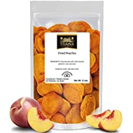Traina Home Grown California Extra Fancy Dried Peaches - No Sugar Added, Non GMO, Gluten Free, Vegan, Packed in Resealable Pouch (2 lbs)