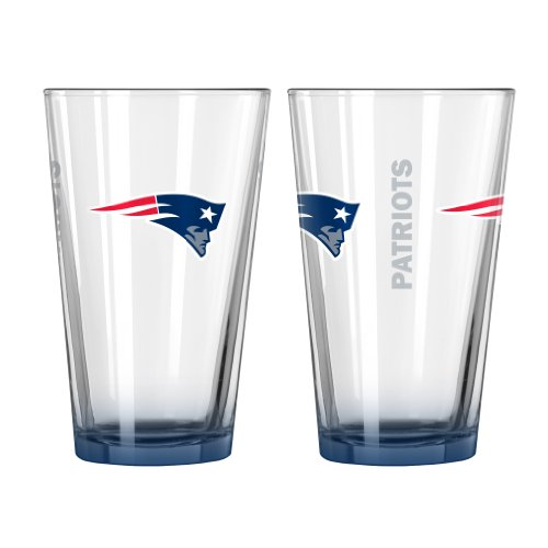 NFL New England Patriots Elite Pint Glass, 16-ounce, 2-Pack