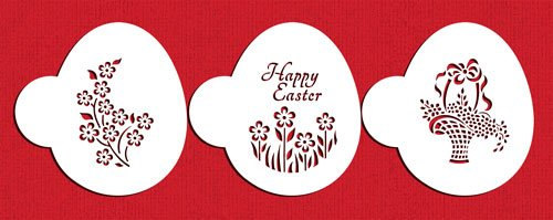 Easter Basket Egg Cookie Stencil Set by Designer Stencils