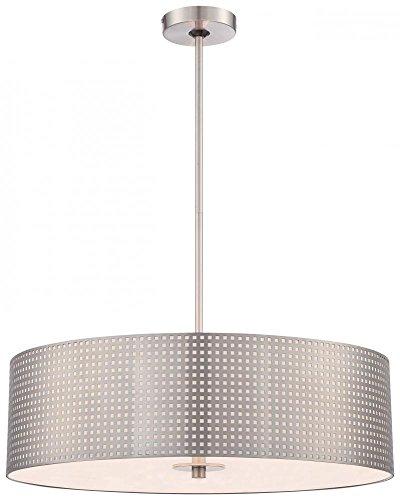 George Kovacs P5745-084, Grid, 4 Light Pendant, Brushed Nickel