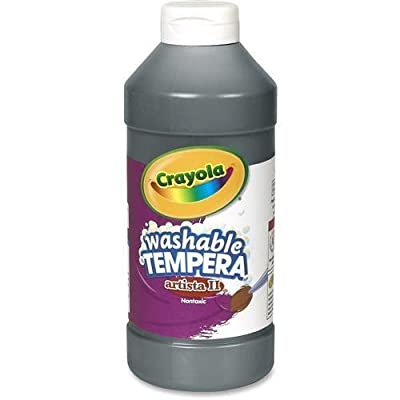 54-3115-051 Crayola Artista II Washable Tempera Paint - 16 oz - 1Each - Black: Beauty