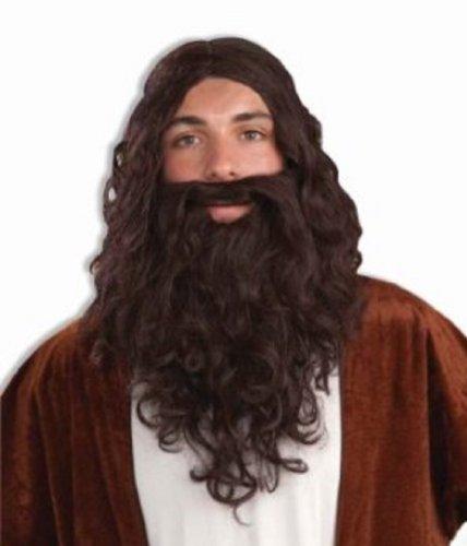 Forum Novelties Adult Brown Biblical Jesue Theatrical Wig & Beard]()