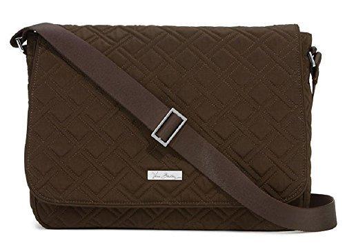 Vera Bradley Laptop Messenger Crossbody Bag in Espresso 15275-085