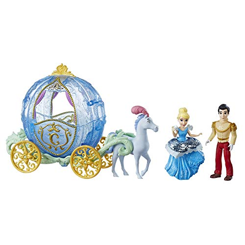 Disney Princess Royal Carriage Ride, Cinderella & Prince Charming Dolls -