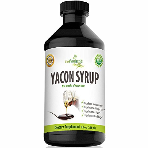 - Pure Yacon Syrup 8 OZ - No Calorie Natural Sweetener + Our Free Weight Loss Program - Constipation Relief - Suppresses Appetite & Boosts Metabolism - Delicious Sugar Substitute - Raw Yacon Root Syrup