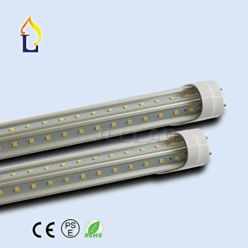 (15PACK) 5ft 30W Led T8 led tube Light double rows V-shaped Tube 1500mm lamp replacement bulb high brightness SMD2835 by JLLEAD