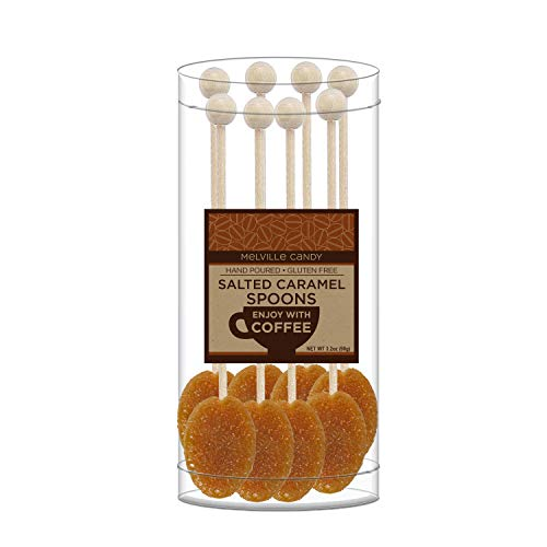 Melville Candy Salted Caramel Coffee Spoon Sweeten and Flavor Your Cup 100% USA Made ( 8 Count)]()