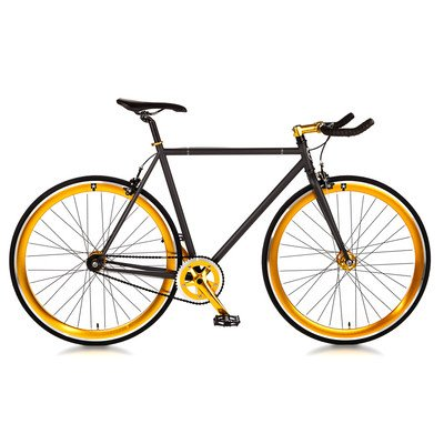 "Blackout Single Speed Fixed Gear Road Bike Size: Small 52cm - 5'2"" to 5'7"""