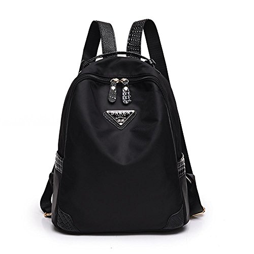Aoligei Double sac à bandoulière Fashion sac à femelle version coréenne imperméable en nylon oxford chiffon grande capacité sac à dos B
