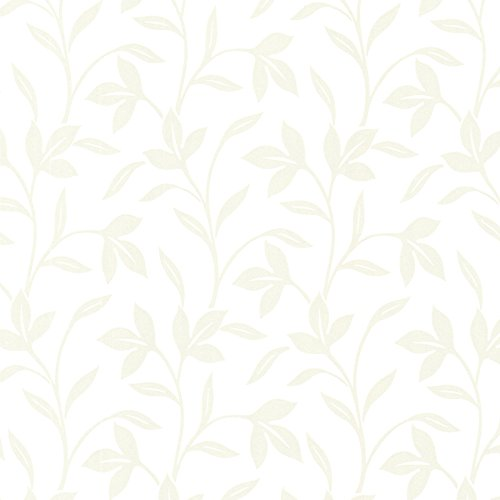 - Brewster 2532-20480 Cynthia  Tonal Leaf Trail Wallpaper, Champagne