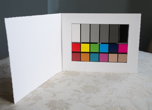 """DGK Color Tools DKK 5"""" x 7"""" Set of 2 White Balance and Color Calibration Charts with 12% and 18% Gray - Includes Frame Stand and User Guide"""
