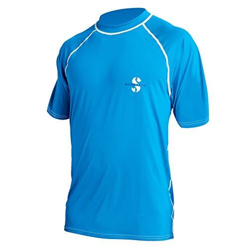 ScubaPro Loose Fit Short Sleeve Rush Guard-Blue-SM