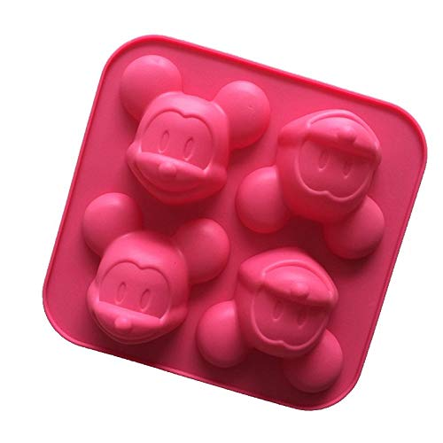 1 piece Mouse Mold 4 Cavities Silicone cakenew Baking Mold cakenew Pan Muffin Cups Soap Moulds Biscuit Chocolate Ice DIY Mold ()