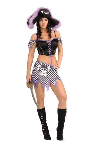 Secret Wishes Women's Sassy Captain's Mate Adult Costume, Multicolor, Small (Sassy Pirate Costume)