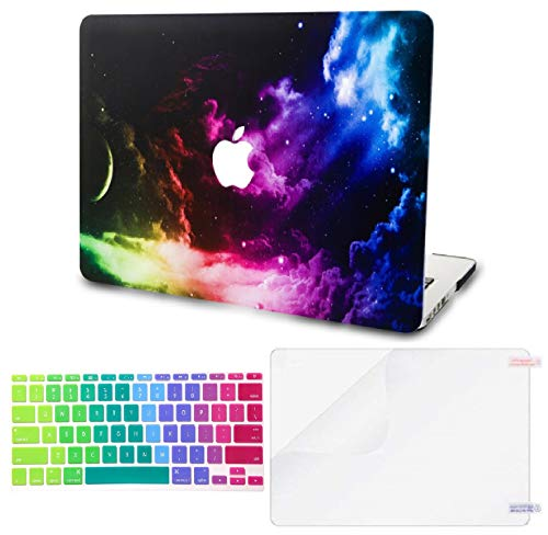 "KECC Laptop Case for Old MacBook Pro 13"" Retina (-2015) w/Keyboard Cover Plastic Hard Shell Case A1502/A1425 + Screen Protector 3 in 1 Bundle (Colorful Space)"