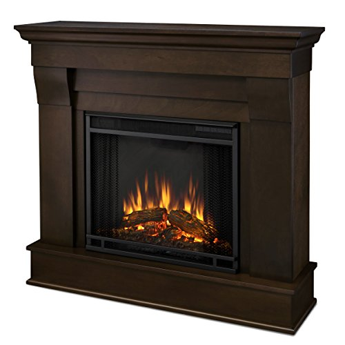Real Flame 5910E-DW Chateau Fireplace, Small, Dark Walnut