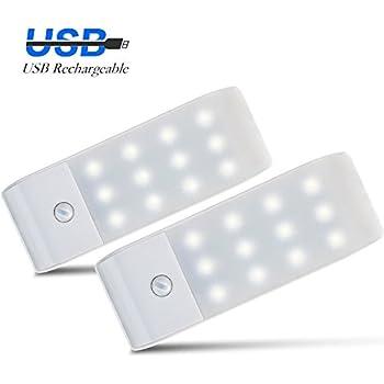 Motion Sensor Closet Light Rechargeable LED Wall Sconce Night Light,  Stick On Anywhere Closet