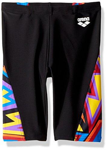 arena Boys Junior Tulum Panel Jammer Athletic Swim Briefs, Black/Black Multicolor, Size 26