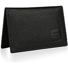 Suvelle Mens Thin RFID Blocking Slim Leather Card Holder Minimalist Front Pocket Wallet WR100
