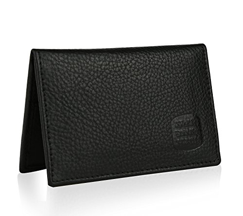 Mens Thin RFID Slim Leather Card Holder Wallet