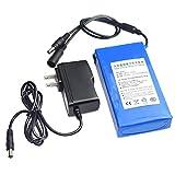 UMFun DC 12V 6800-18000mAh Super Rechargeable Li-ion Lithium Battery Pack +US Plug 127x65x22mm (9800mAh)