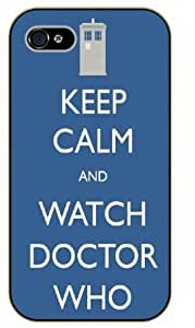 iPhone 4 / 4s Keep Calm and watch Doctor Who - black plastic case / Keep Calm, Motivation and Inspiration by icecream design