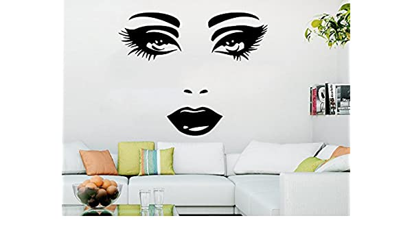 Wall Stickers Beauty Salon Makeup Girls Art Decals Vinyl Decor Room Home