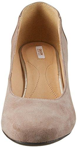 Geox D Audalies Mid C, Zapatos de Tacón para Mujer Beige (TAUPEC6029)
