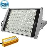 Outdoor Lights 84W High Power Waterproof White 84 LED Street Light with Holder, AC 85-250V Garden Lights (SKU : S-led-1608w)