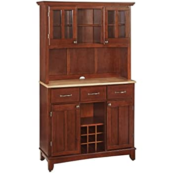 Home Styles 5100-0071-72 Buffet of Buffets Natural Wood with Hutch, Cherry Finish, 41-3/4-Inch