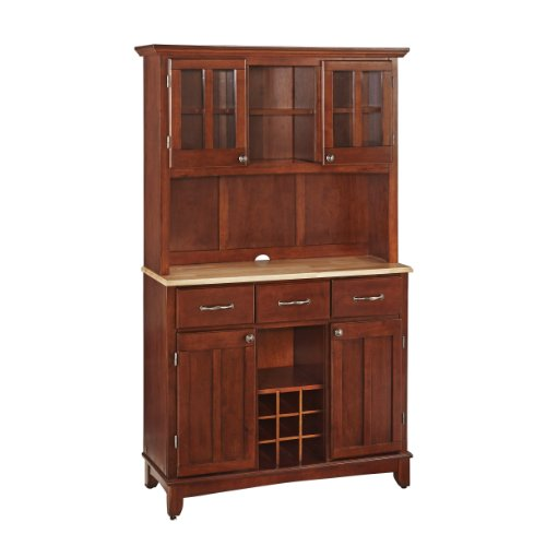 Beau Home Styles 5100 0071 72 Buffet Of Buffets Natural Wood With Hutch, Cherry  Finish, 41 3/4 Inch