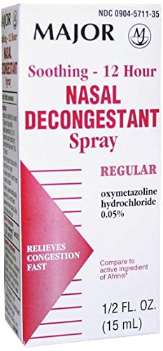 Major Pharmaceuticals 263996 Soothing 12 Hour Nasal Decongestant Spray, Compare to Afrin, 15 mL Volume, (Best Major Pharmaceuticals Nasal Sprays)