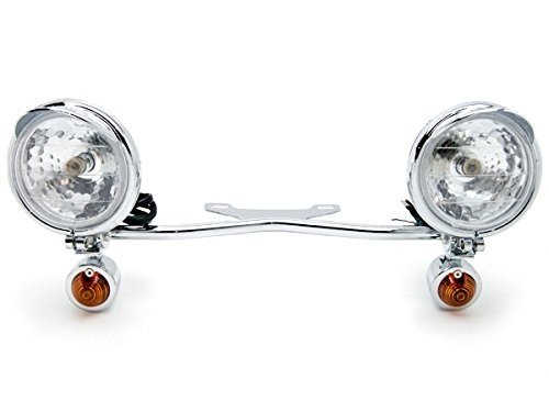 (2 x Motorcycle Parts Chrome Racing Custom Amber Bulbs Turn Signals Spot Light Bar Blinkers Indicators Touring Lights Accessories Fit For Honda VT Shadow Ace Classic 500 700 750 1100 )