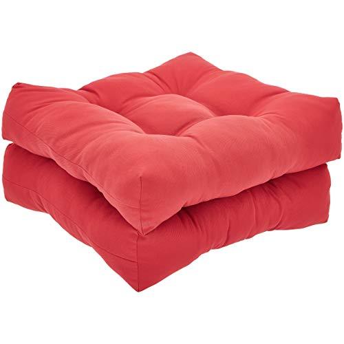 AmazonBasics Round Seat Patio Cushion, Set of 2 - Red