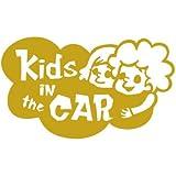 KIDS IN CAR ウインドウステッカー (ゴールド)
