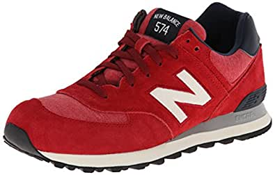 New Balance Men's ML574 Pennant Pack Running Shoe,Red,9 D US