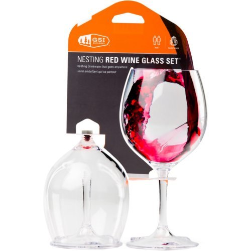 GSI Outdoors Nesting Red Wine Glass Set by GSI Outdoors