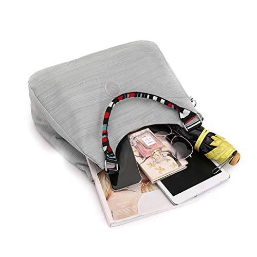 Paquete Bolsos Madre Viaje Bolsas Dongyuer Momia Alta Flor Señora Salir Hombro Moda Portátil Capacidad Paño E La Mano Nylon Bolso Bolsa d Tela De wOaO8q6C