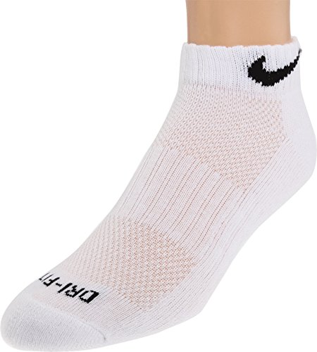 Nike Dri-FIT Low-Cut Training Socks (Large/6 Pair) White/Black Size Large