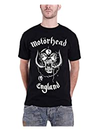 Motorhead T Shirt England Classic War Pig Band Logo Official Mens New Black