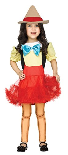 Fun World Toddler' Wooden Girl Costume, Multi, Small -